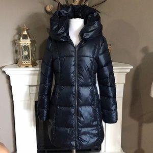 Sam Edelman Navy Hooded Puffer Coat